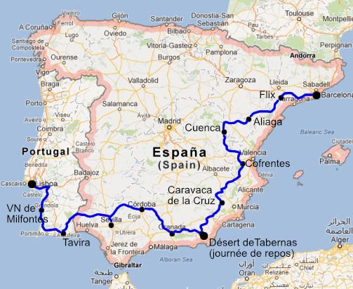 Carte De Lespagne Barcelone.Traversee De L Espagne En Trail Trans Iberica